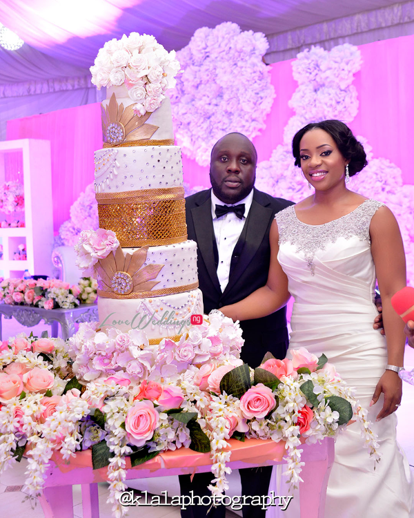 Nigerian Wedding Cake Isioma and Ifeanyi LoveweddingsNG Klala Photography