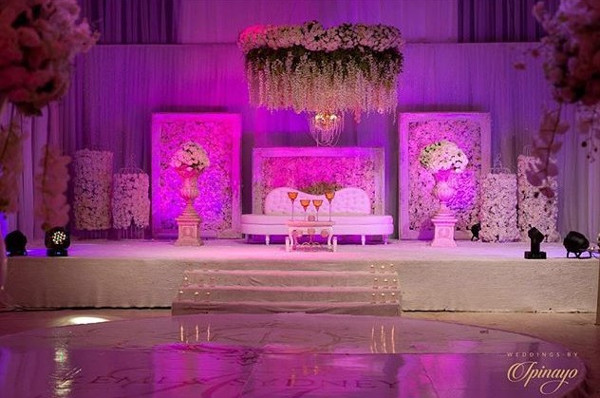 Nigerian Wedding Decor Kemi and Sydney Aquarian Touch LoveweddingsNG
