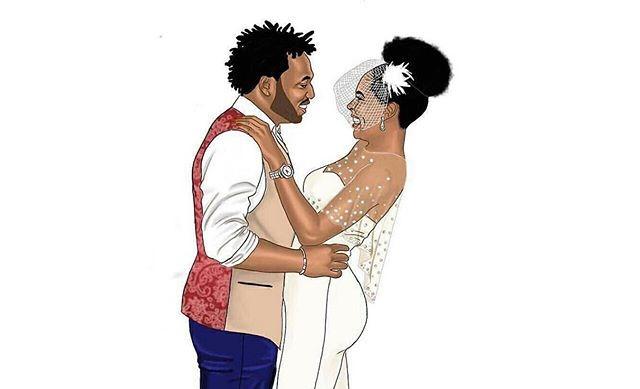 Nigerian Wedding Illustrations #MJ2016 Morayo and Jide Lean Kid LoveweddingsNG feat