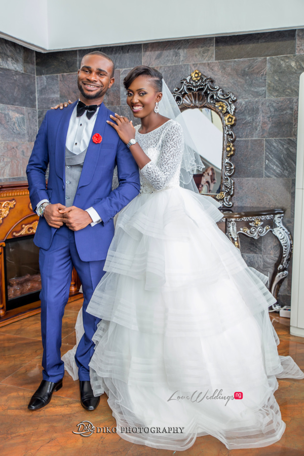 Nigerian White Wedding Esther and Ben Bride and Groom Diko Photography LoveweddingsNG