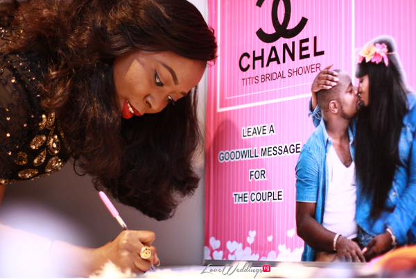 Titi's Chanel Themed Bridal Shower Guest book Partito By Ronnie LoveweddingsNG