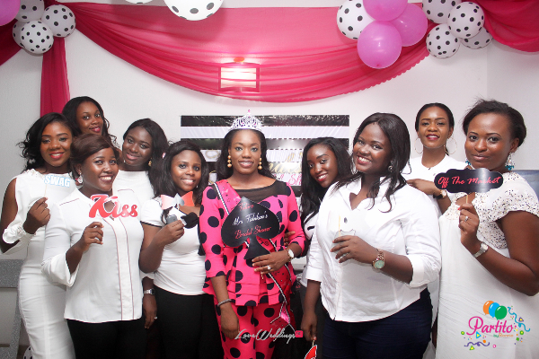 Yetunde's Kate Spade Themed Bridal Shower Bride and guests LoveweddingsNG Partito by Ronnie