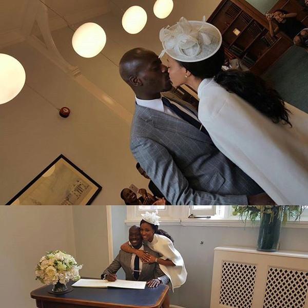 Kandi weds Dele #Kandele Courthouse Wedding LoveweddingsNG