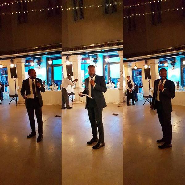Kandi weds Dele #Kandele Destination Wedding Croatia Chinwetel Ejiofor Speech LoveweddingsNG