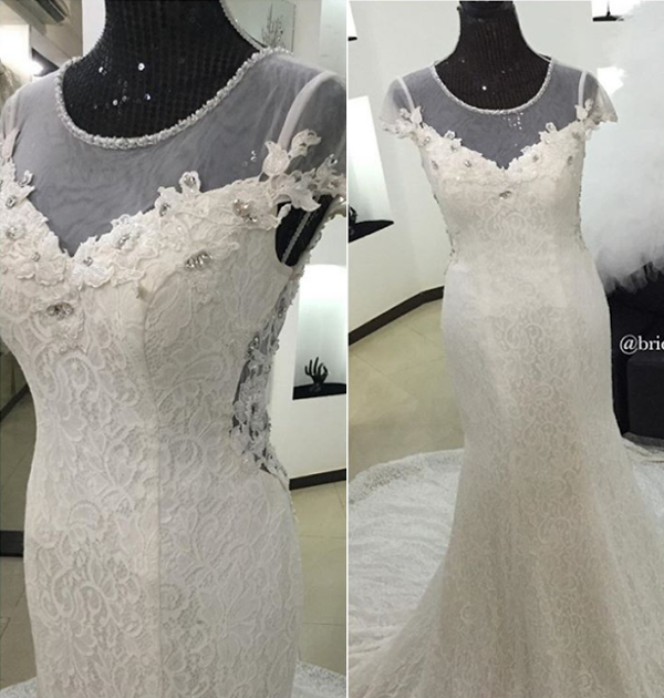 Nigerian Bridal Gown Alma Jesse LoveweddingsNG Brides & Babies 1