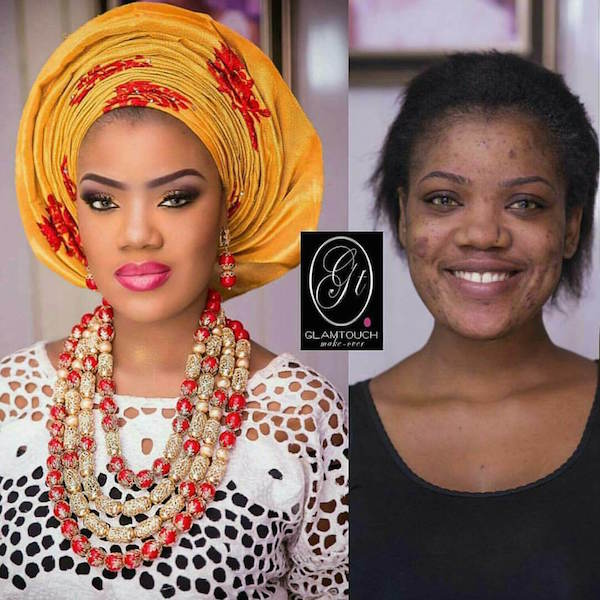 Nigerian-Bridal-Makeover-Before-and-After-Glamtouch-LoveweddingsNG