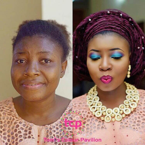 Nigerian-Bridal-Makeover-Before-and-After-Tomi's-Colour-Pavilion-LoveweddingsNG