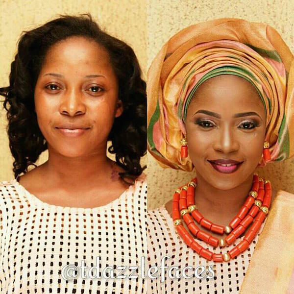 Nigerian-Bridal-Makeover-Before-and-After-tdazzlefaces-LoveweddingsNG
