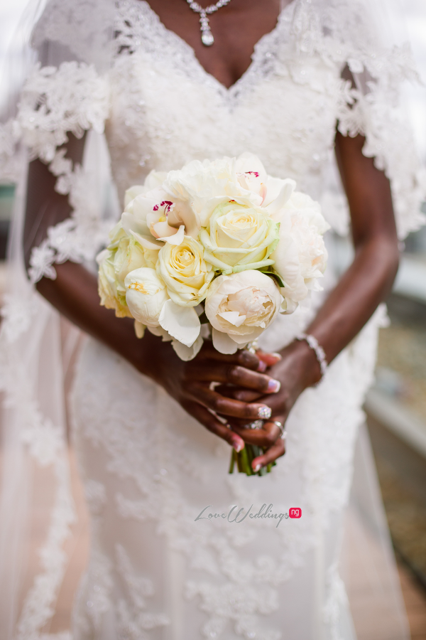 Nigerian Bride Bouquet Joy and Ifeanyi Perfect Events LoveweddingsNG 1