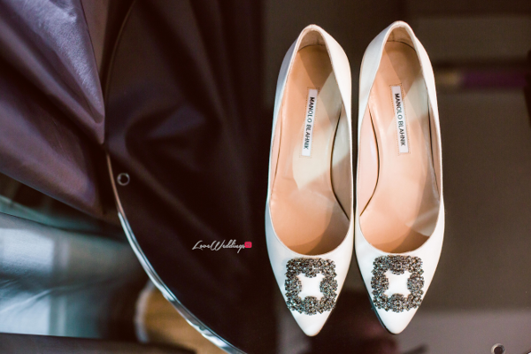 Nigerian Bride Shoes Joy and Ifeanyi Perfect Events LoveweddingsNG