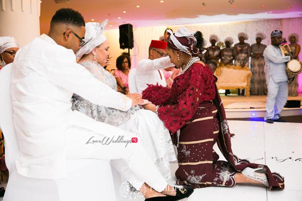 Nigerian Ghanaian Wedding Abi and Olivia Traditional Bride Parents Praying LoveweddingsNG