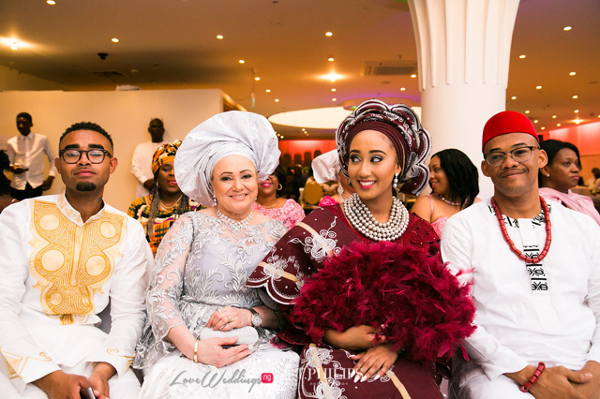 Nigerian Ghanaian Wedding Abi and Olivia Traditional Bride and Parents LoveweddingsNG