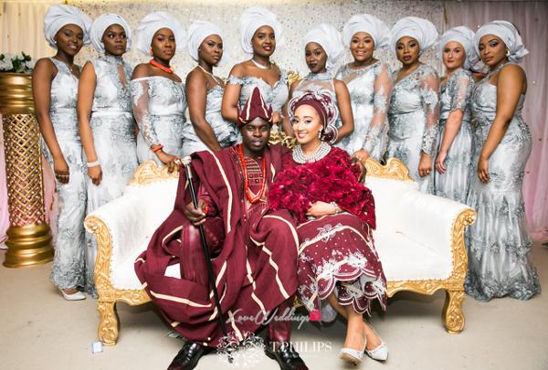 Nigerian Ghanaian Wedding Abi and Olivia Traditional Couple with Aso Ebi LoveweddingsNG