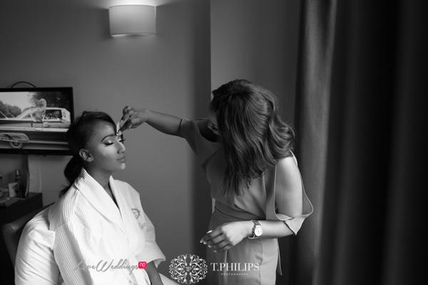 Nigerian Ghanaian White Wedding Abi and Olivia Bride Makeup LoveweddingsNG