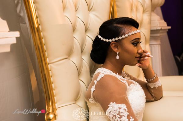 Nigerian Ghanaian White Wedding Abi and Olivia Bride Tears Crying LoveweddingsNG