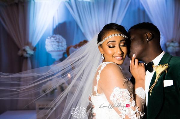 Nigerian Ghanaian White Wedding Abi and Olivia Bride and Groom LoveweddingsNG