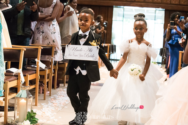 Nigerian Ghanaian White Wedding Abi and Olivia Little Bride and Page Boy LoveweddingsNG 1