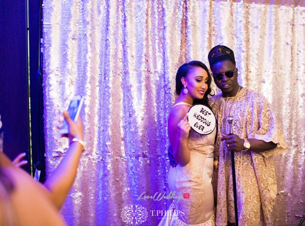 Nigerian Ghanaian White Wedding Abi and Olivia Reception Outfit LoveweddingsNG