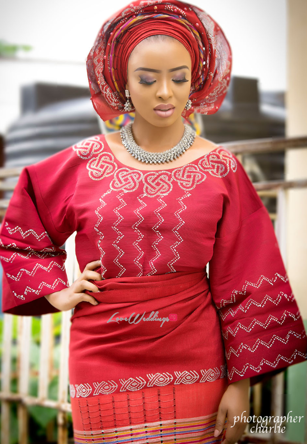 Nigerian Traditional Bride Red Aso Oke Inspiration LoveweddingsNG 2