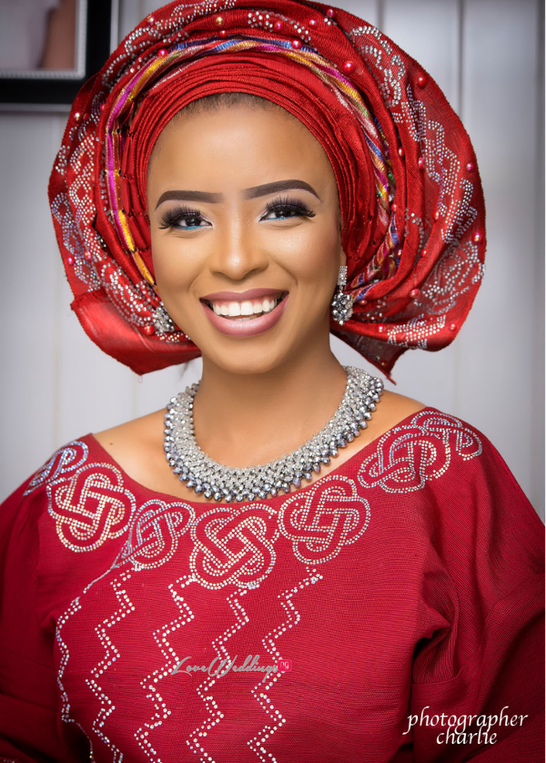 Nigerian Traditional Bride Red Aso Oke Inspiration LoveweddingsNG 5