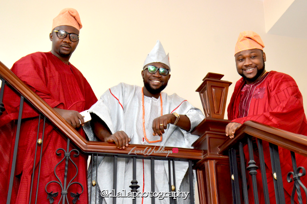 Nigerian Traditional Groom and Friends Rasheedat and Kamaldeen LoveweddingsNG Klala Photography 2