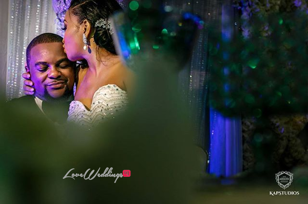 Nigerian Wedding Chidinma and Chuka #DimmyChu16 LoveweddingsNG kiss