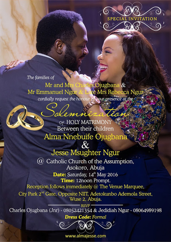 Nigerian Wedding E-invite Alma Jesse LoveweddingsNG