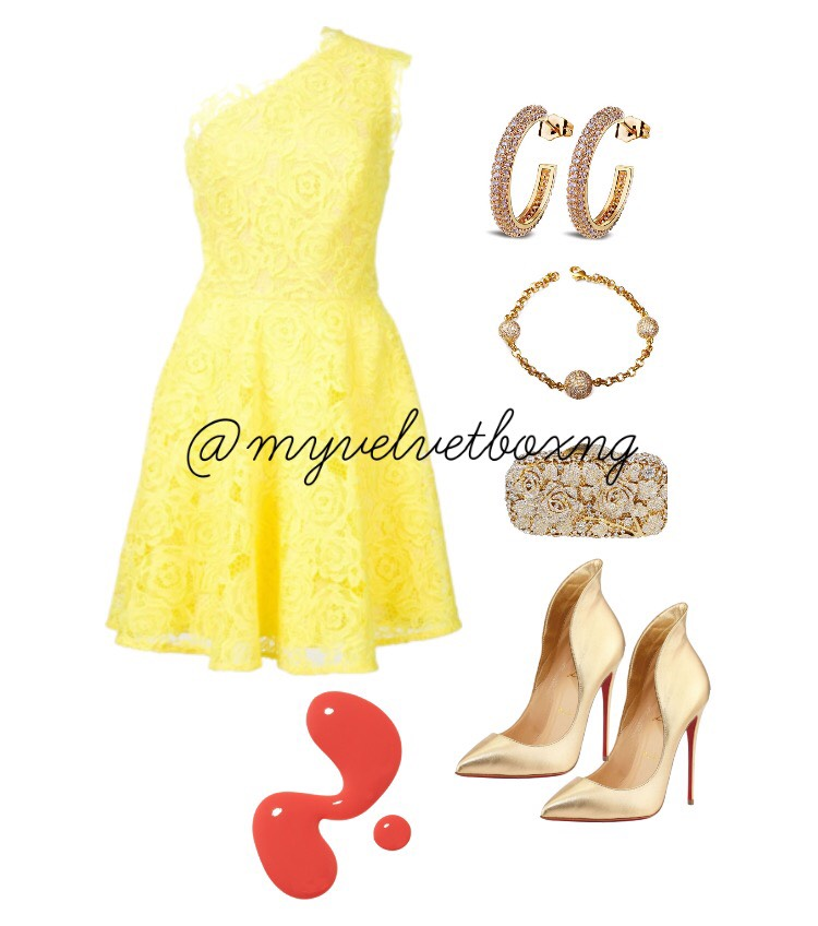 Nigerian-Wedding-Guest-Outfit-Yellow My-Velvet-Box-NG-LoveweddingsNG