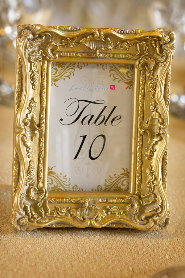 Nigerian Wedding Joy and Ifeanyi Table Numbers Perfect Events LoveweddingsNG