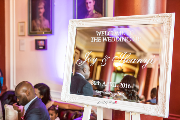 Nigerian Wedding Mirror Welcome Sign Joy and Ifeanyi Perfect Events LoveweddingsNG 1