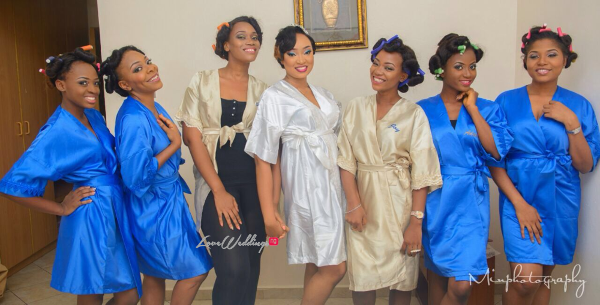 Nigerian Wedding Sandra and Obinna Bridesmaids LoveweddingsNG