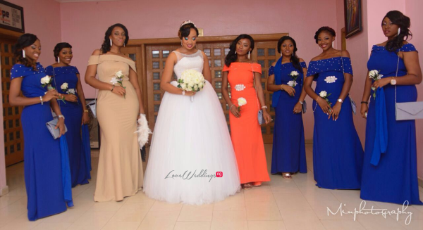 Nigerian Wedding Sandra and Obinna Bridesmaids Solange Pose LoveweddingsNG