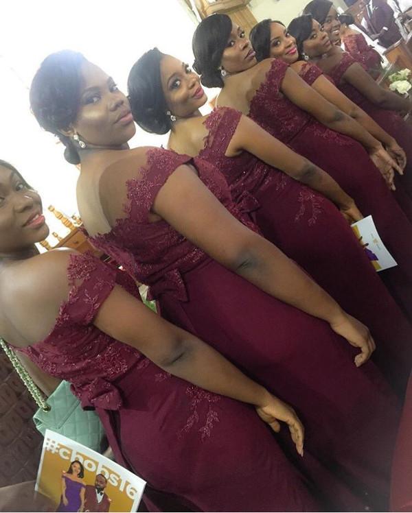 Noble Igwe Chioma Otisi Bridesmaids Nigerian Celebrity Wedding LoveweddingsNG