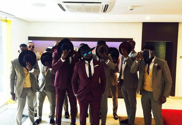 Noble Igwe Chioma Otisi Groom and Groomsmen Nigerian Celebrity Wedding LoveweddingsNG 1