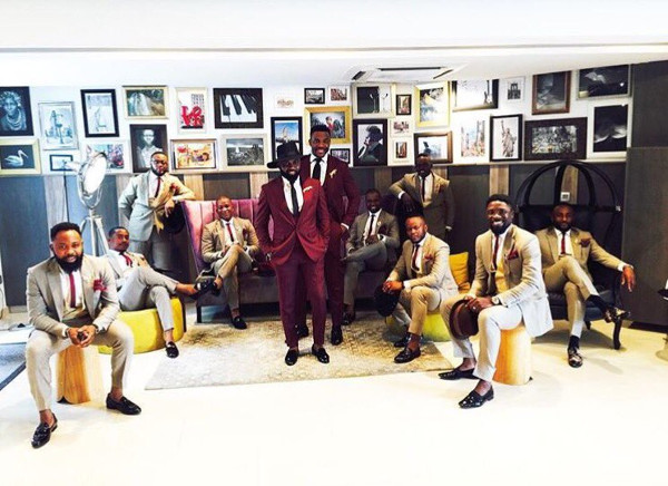 Noble Igwe Chioma Otisi Groom and Groomsmen Nigerian Celebrity Wedding LoveweddingsNG