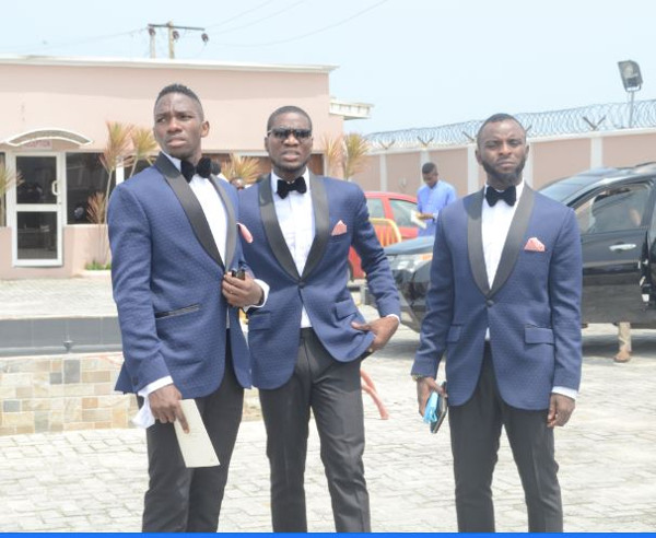 Onazi Ogenyi Sandra Ogunsuyi White Wedding Guests - Kenneth Omeruo, Brown Ideye and Sunday Mba LoveweddingsNG