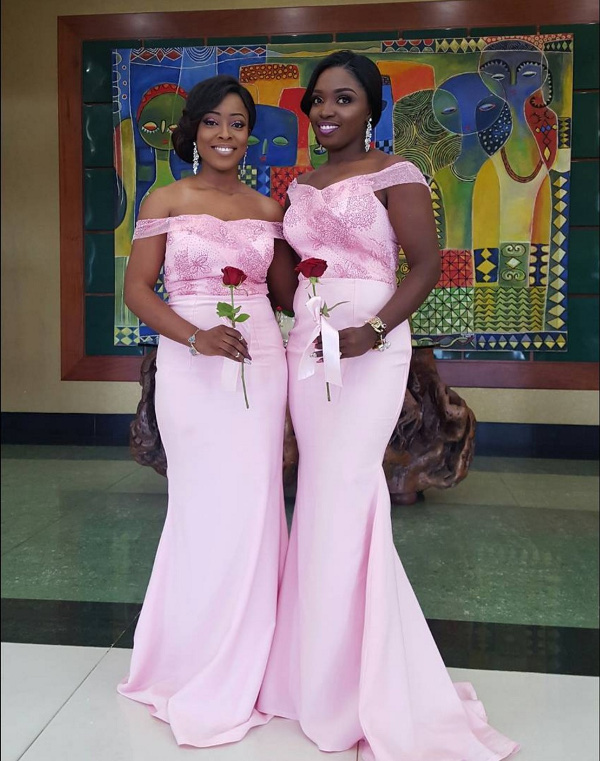 Onazi Ogenyi Sandra Ogunsuyi White Wedding Photos Bridesmaids LoveweddingsNG