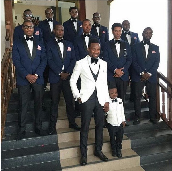 Onazi Ogenyi Sandra Ogunsuyi White Wedding Photos Groomsmen LoveweddingsNG 1
