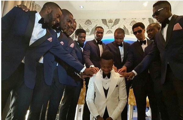 Onazi Ogenyi Sandra Ogunsuyi White Wedding Photos Prayer LoveweddingsNG