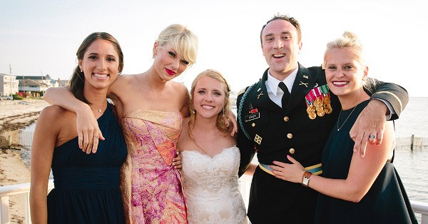 Taylor Swift makes surprise appearance at a fan's wedding