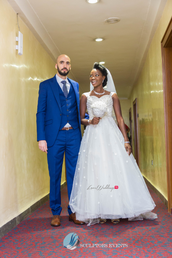 Esther and Kyrillos Yoruba Greek Wedding Bride and Groom Sculptors Event Planners LoveweddingsNG