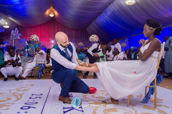 Esther and Kyrillos Yoruba Greek Wedding Garter Sculptors Event Planners LoveweddingsNG 2