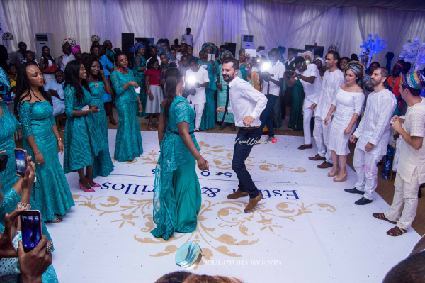 Esther and Kyrillos Yoruba Greek Wedding Guests Dance Sculptors Event Planners LoveweddingsNG