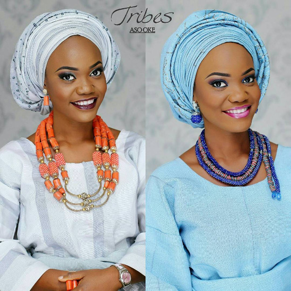 Nigerian Blue Aso Oke Head to Toe Bridal Inspiration LoveweddingsNG Tribes Aso Oke 1