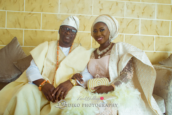 Nigerian Traditiona Bride and Groom Kenny and Kunle LoveweddingsNG Diko Photography 1