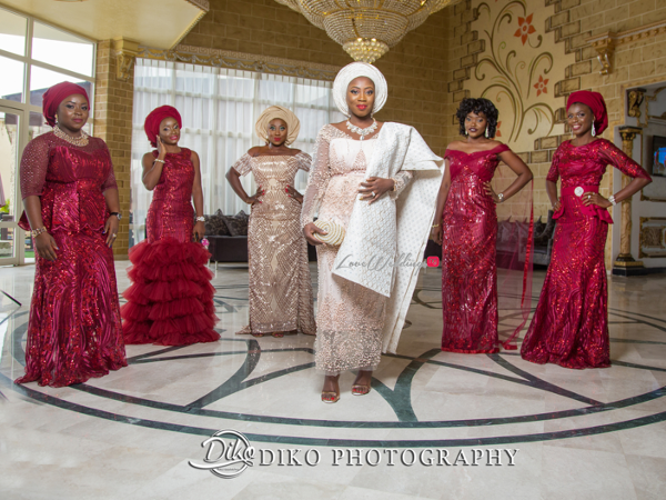 Nigerian Traditiona Bride and friends Solange Pose LoveweddingsNG Diko Photography