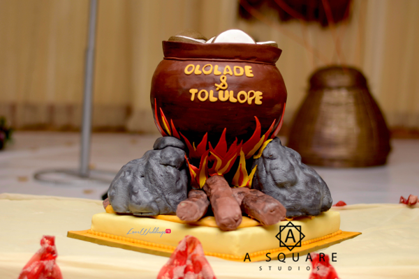 Nigerian Traditional Wedding Cake Lolade and Tolulope ASquare Studios LoveweddingsNG
