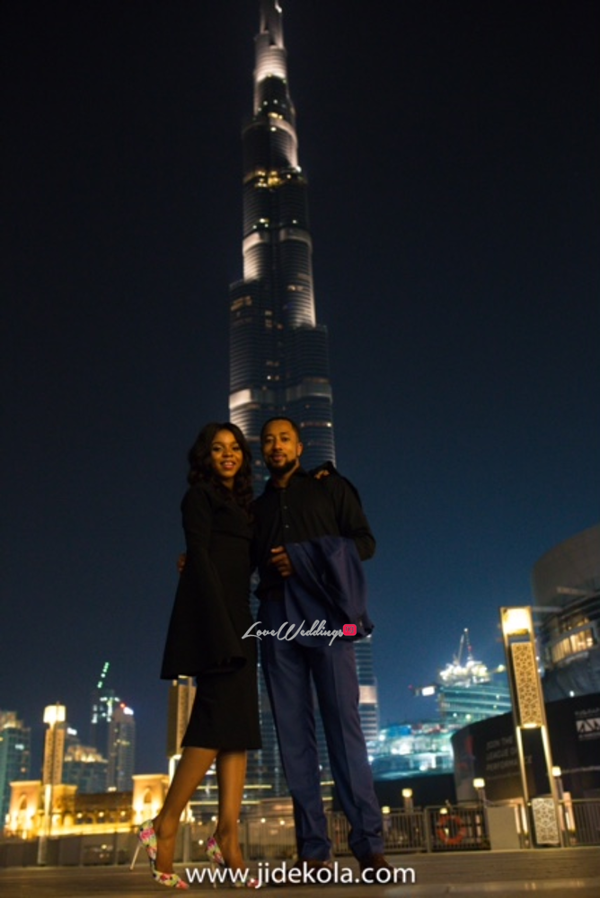 Dubai PreWedding Shoot Burj Khalifa Frankeen2016 Jide Kola LoveweddingsNG