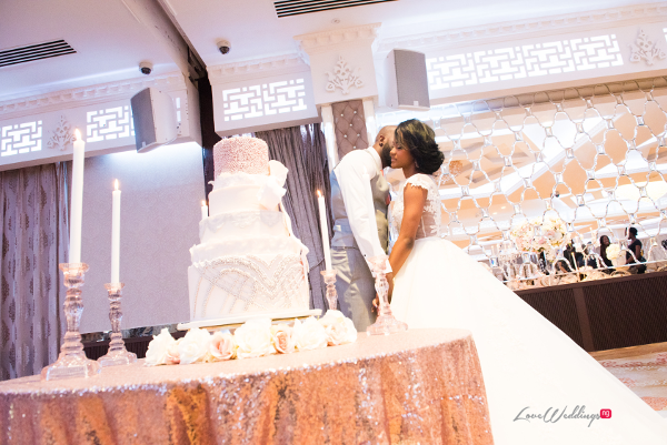 Forever Blush Styled Shoot Cristal Olivier Weddings Bride and Groom Cake LoveweddingsNG