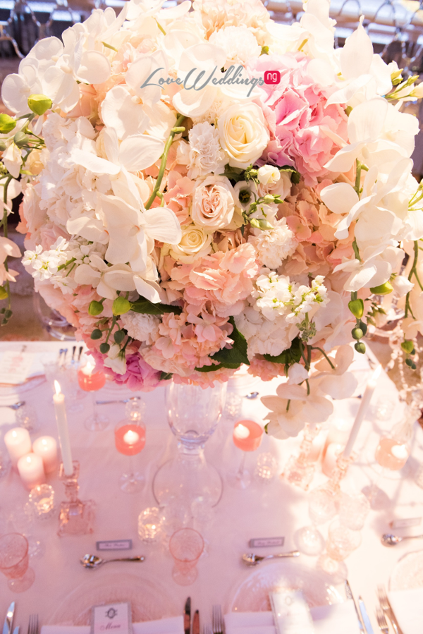 Forever Blush Styled Shoot Cristal Olivier Weddings Table Decor Floral Centerpiece LoveweddingsNG